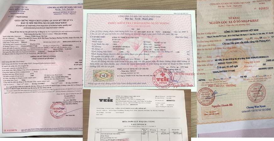 đăng ký xe ô tô nissan